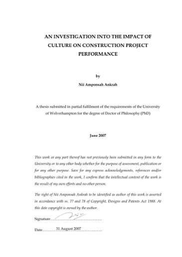 Phd thesis on culture dr ahmed ankit dissertation