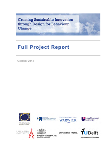 Creating Sustainable Innovation through Design for Behaviour