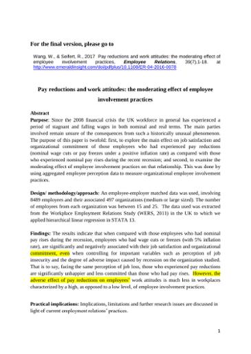 employee involvement practices