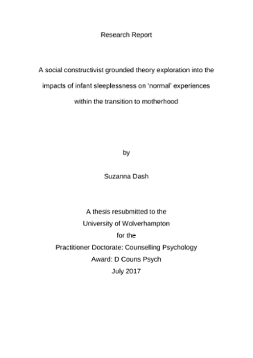 A social constructivist grounded theory exploration into the
