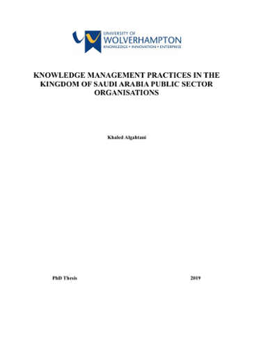 KNOWLEDGE MANAGEMENT PRACTICES IN THE